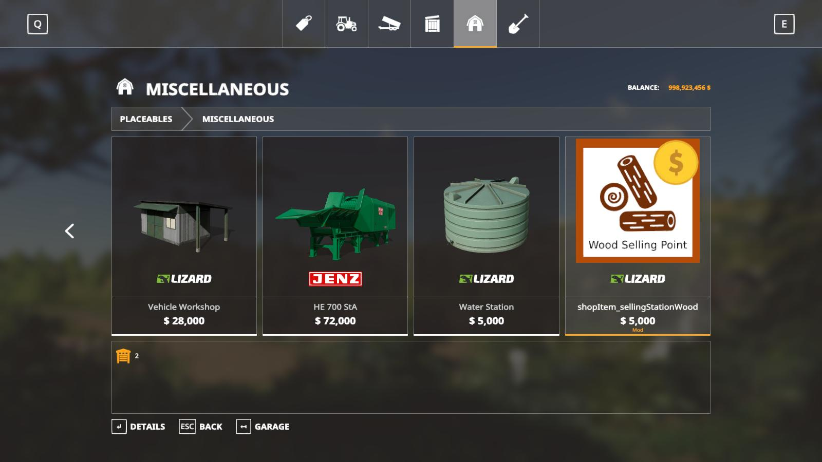 Placeable Wood Sell Point v 1.0