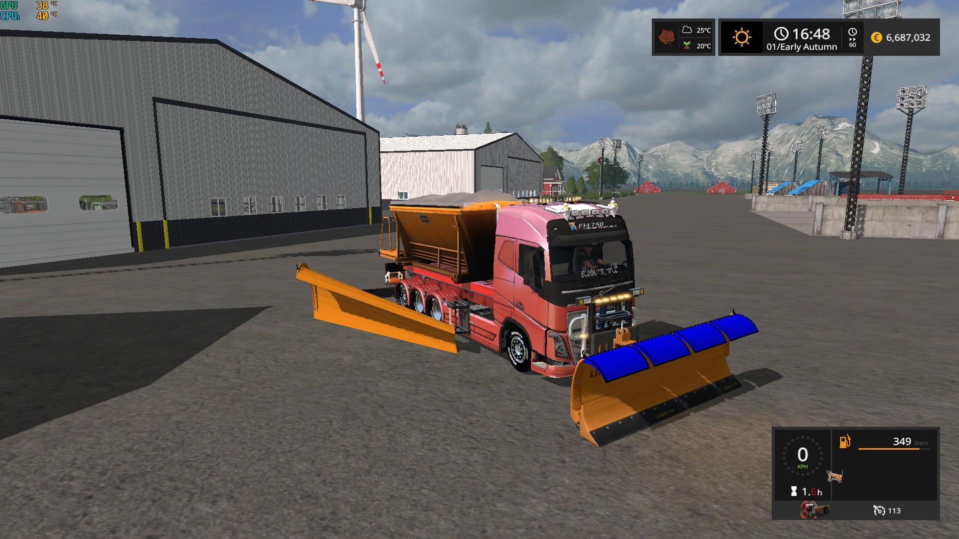 Snow Truck with snowblades and sander v 1.0