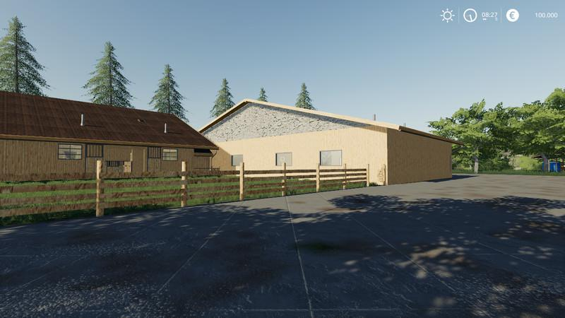 Horse stable with riding hall v 1.0