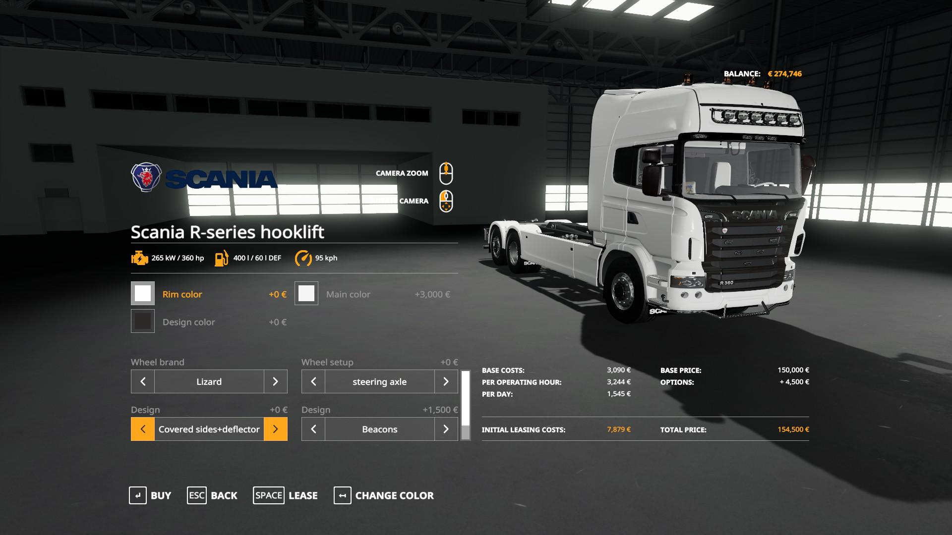 SCANIA R-SERIES HOOKLIFT v 1.3