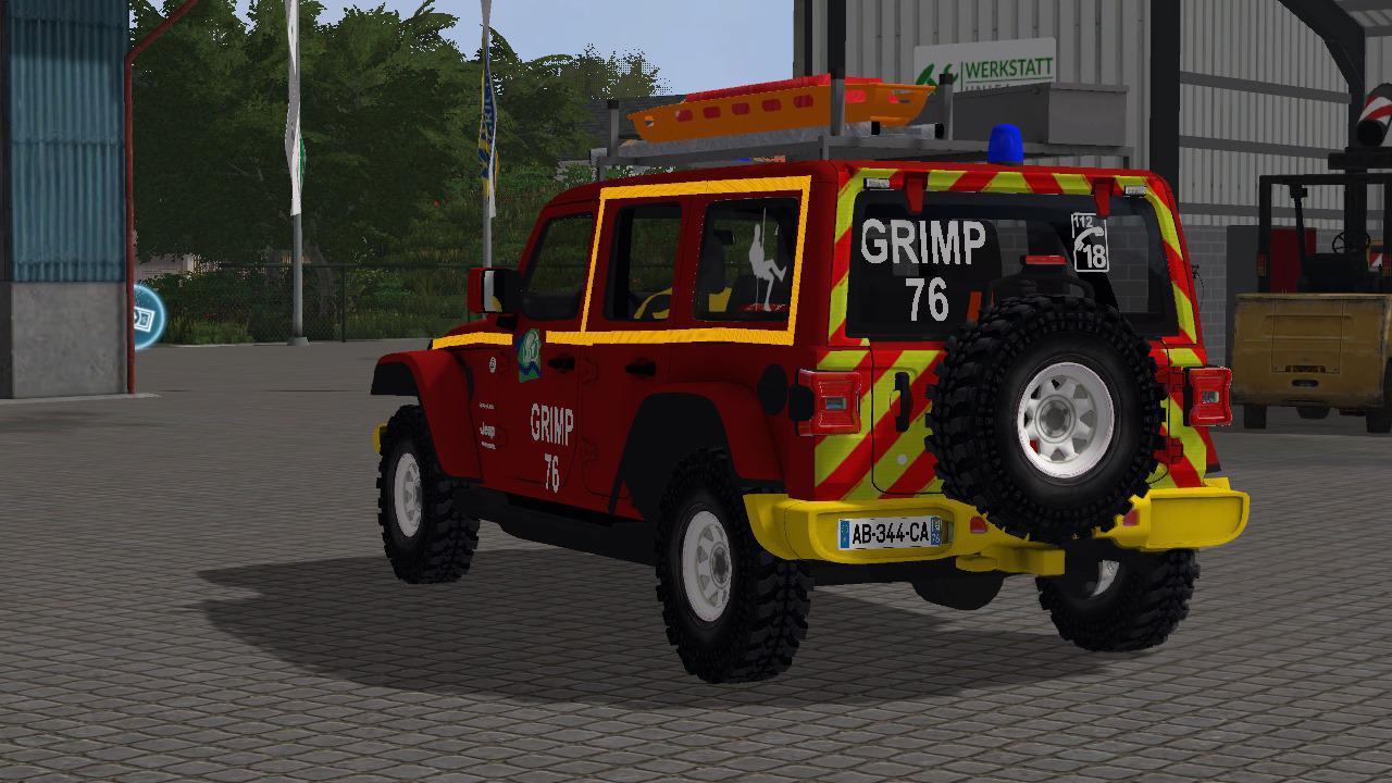 Jeep Wrangler Pompier v 1.0