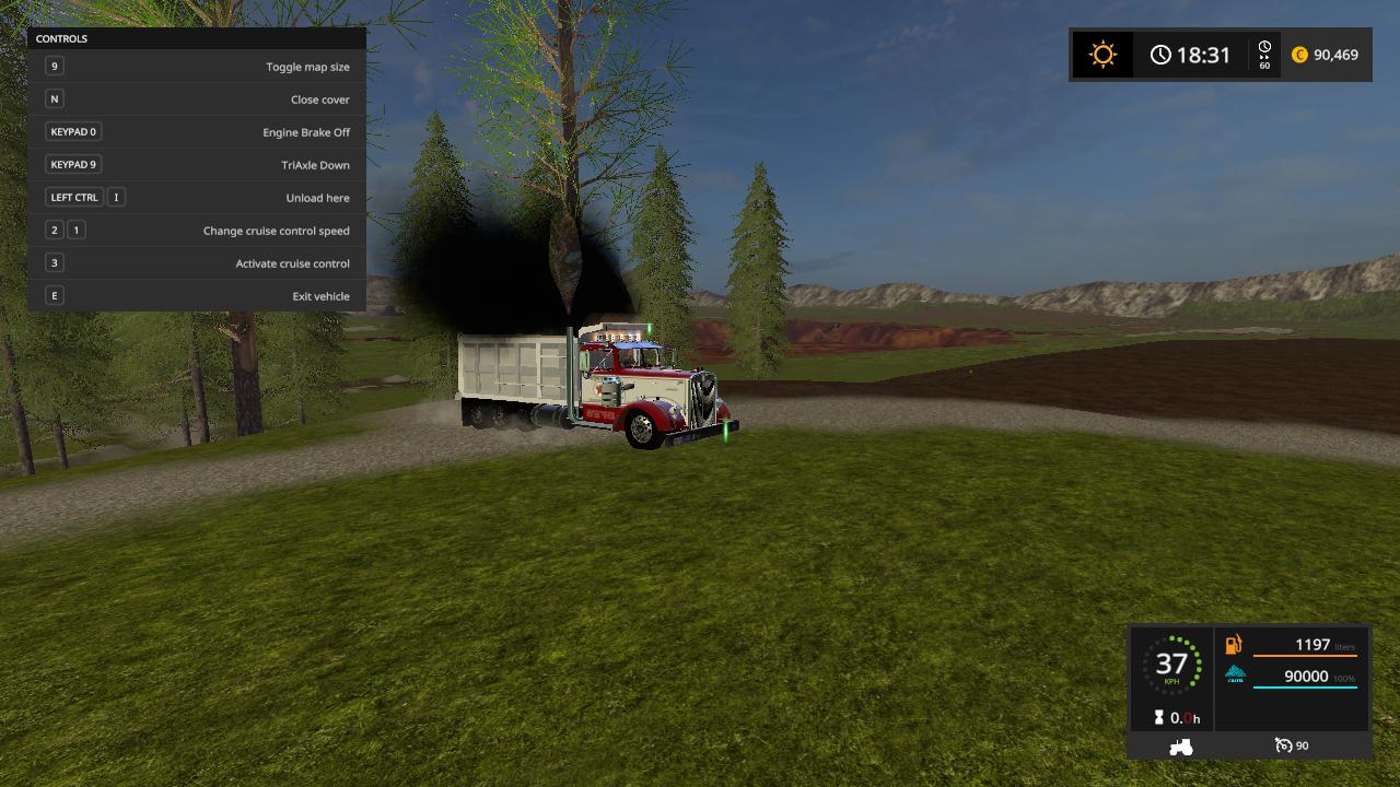 Kenworth 521 dump truck v 1.0