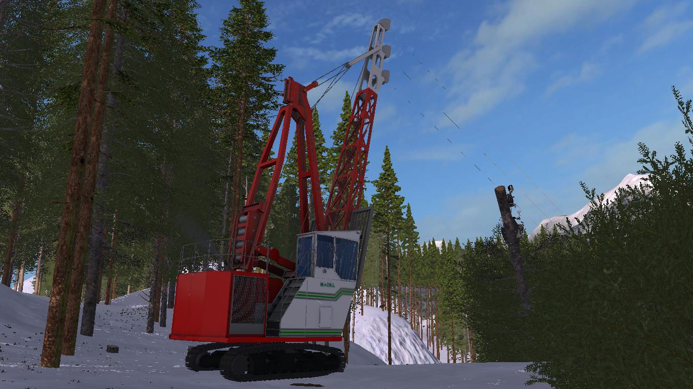 Madill 124 Grapple Yarder v 1.0