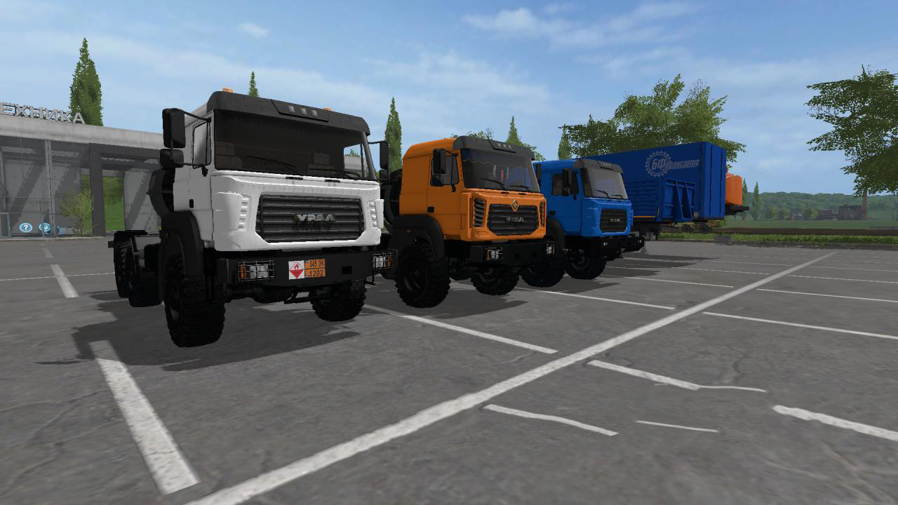 Ural-M and Semitrailer v 1.0