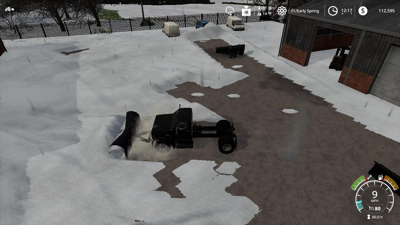 Chevy C70 snow plow truck v1.0