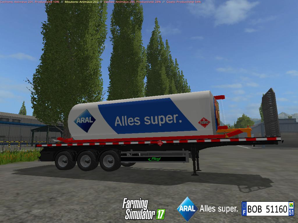 FS17 Fuel Aral Trailer By BOB51160 v1.0.0.1