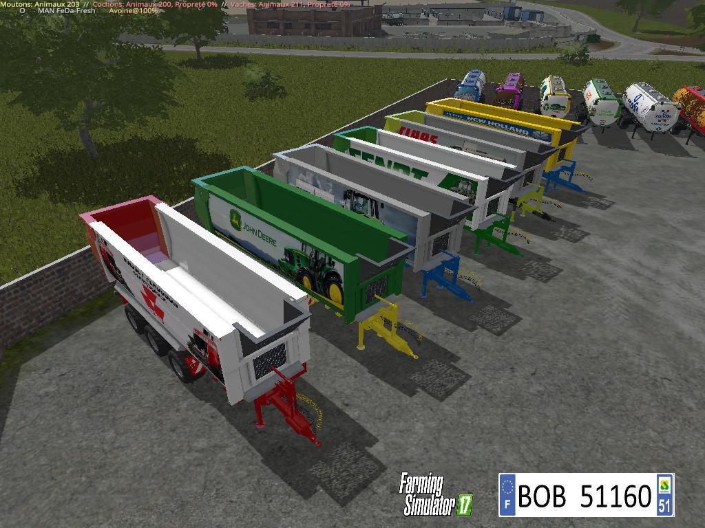 FS17 Pack 6 Trailers By BOB51160 v1.0