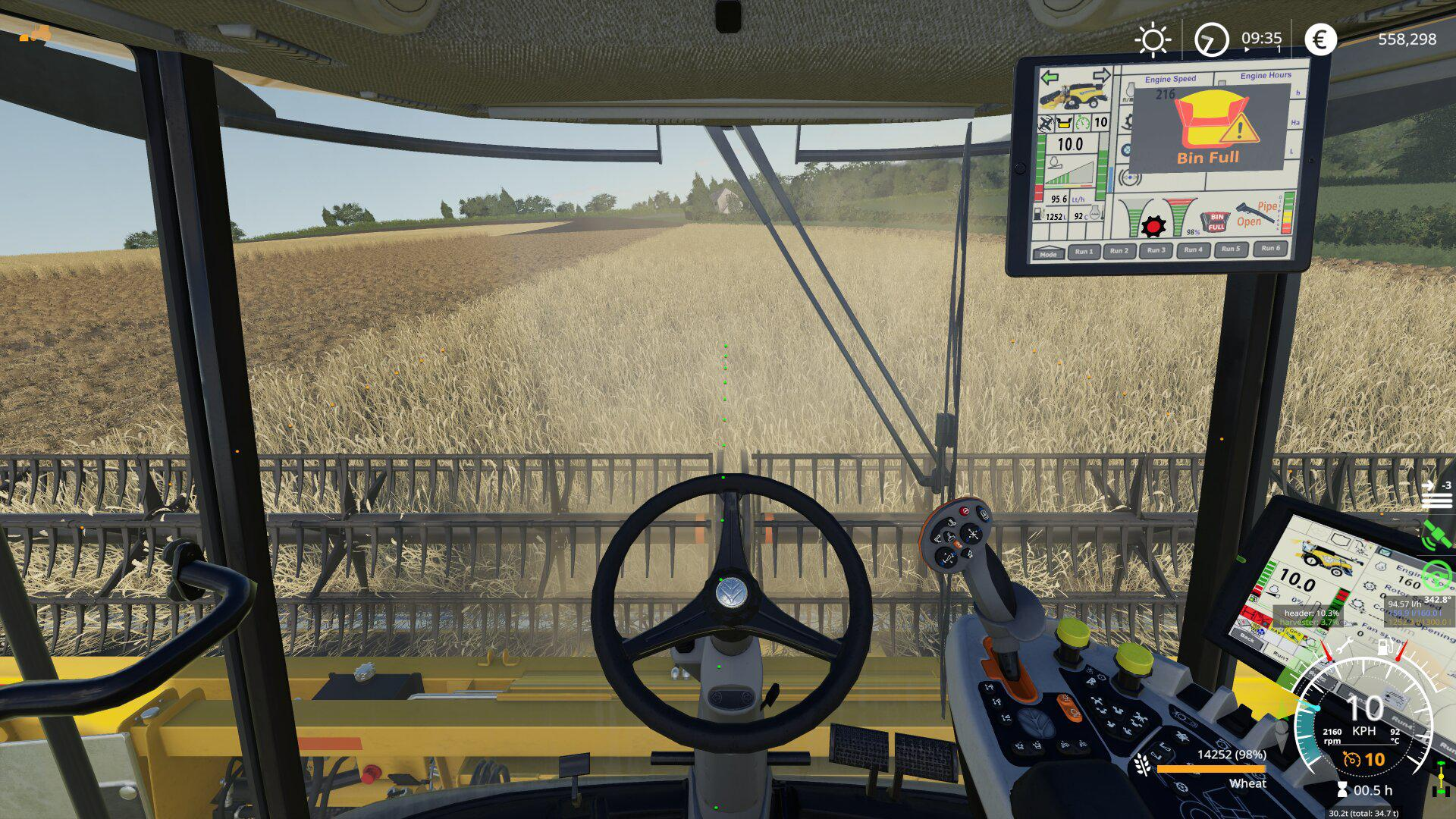 New Holland Cr 10.90 Extended HUD v1.0