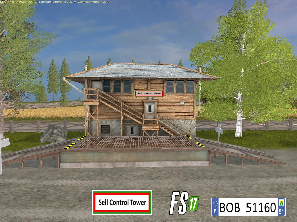 FS17 SELL CONTROL TOWER BY BOB51160 V1.0